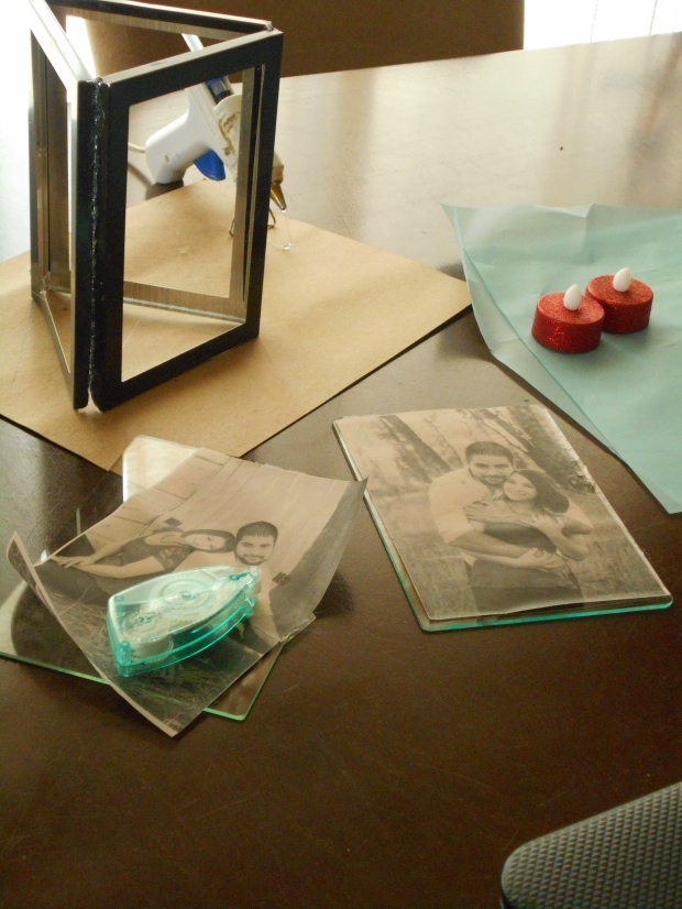 DIY photo frame luminaries, www.historyeventsmt.net