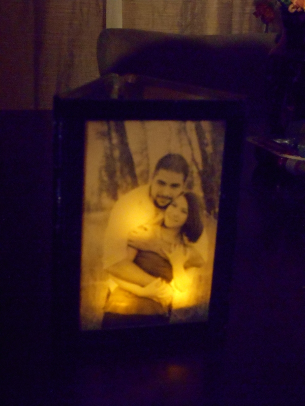 DIY photo frame luminaries, www.historyeventmt.net