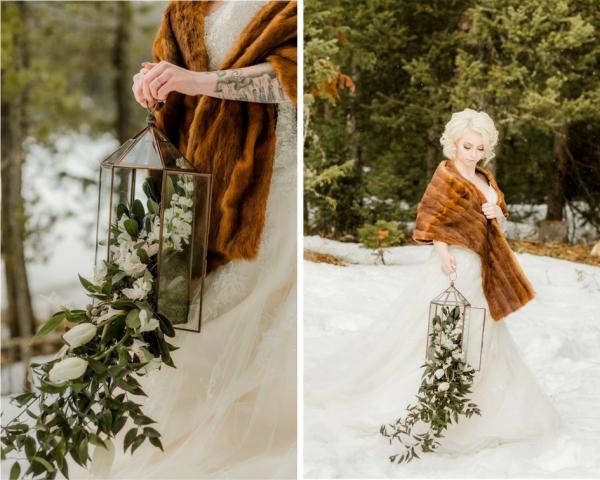 alternative wedding bouquet lantern