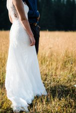 bride and groom saying vows elope