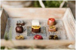 small winter wedding dessert table