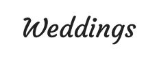 Weddings font1