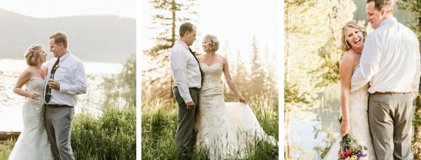 bride and groom Bozeman, MT elopemen
