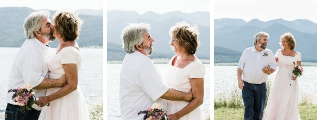 vow renewal in West Yellowstone on Hebgen Lake