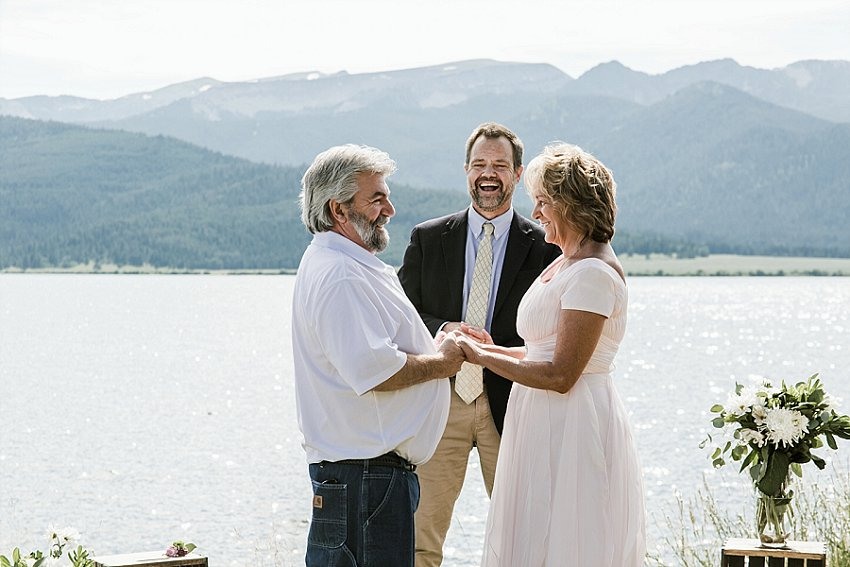 vow renewal on Hebgen Lake, West Yellowstone, MT