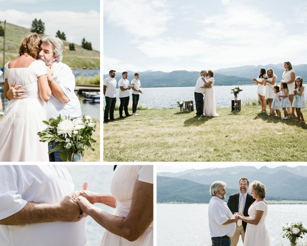 vow renewal on Hebgen Lake
